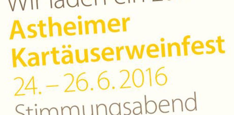 Astheimer Kartäuserweinfest 2016